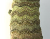 Greens Galore, Olive Green Chevron Stripes, Dog Sweater, Small Breed, Med Size, Chihuahua, Terrier