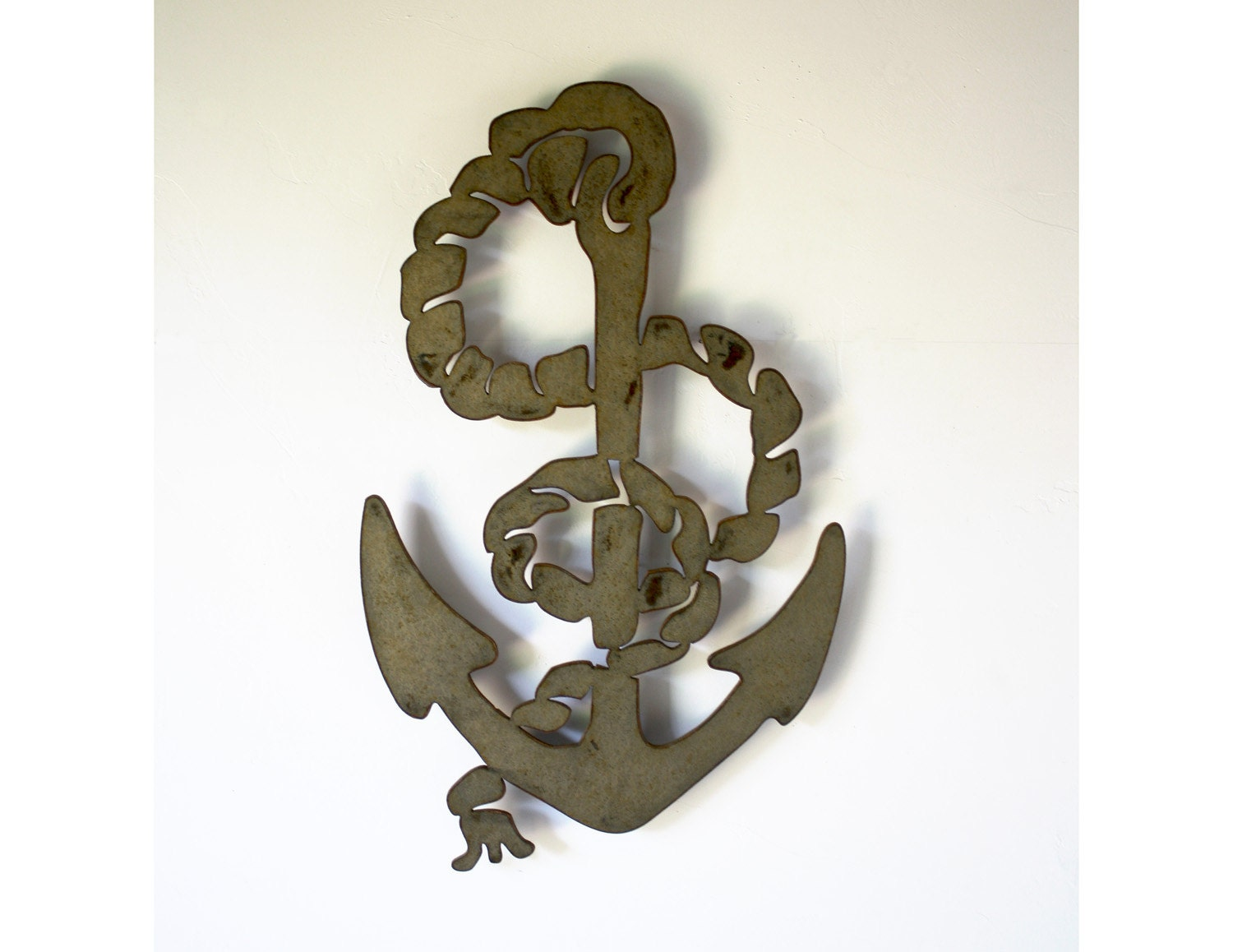 Nautical Anchor Metal Wall Art 20 Tall Choose Your