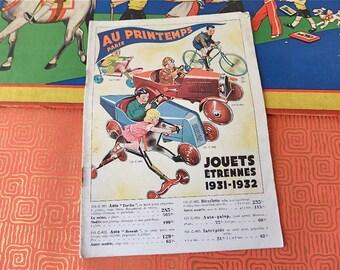 """Vintage  1931 French Christmas """"Etrennes"""" Toys   Catalog  General Store """" Le PRINTEMPS""""  Paris"""