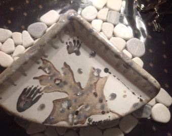 Made to Order Ceramic Handpainted Corner Shower Shelf