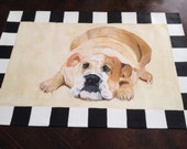 Bulldog puppy lovers this puppy mat is a great accent to any room in your house.