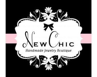 Premade Logo design- New Chic Logo Design -  damask design - Boutique - accessories