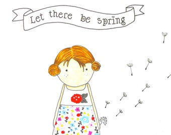 Illustration Let There Be Spring Girl