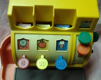 Vintage 1970s Fisher Price Cash Register