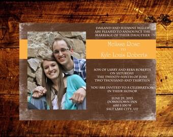 rustic wedding invitations, unique wedding invitations, printable wedding invitations, custom wedding invitations, wedding announcement