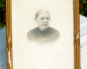 Antique Framed Photo Portrait Of Old Woman - Wood Frame - Home Decor - Collectible - TPT Team