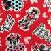 Half yard  Mickey  Disney fabric Mickey mouse printed winter new fabric red colour
