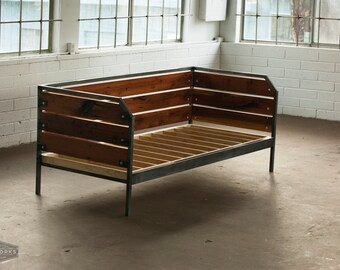 modern redwood daybed or sofa steel frame custom meyers series