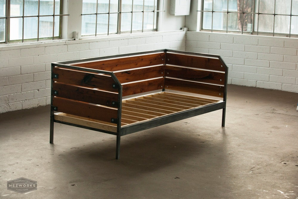 Modern Redwood Daybed Or Sofa Steel Frame Custom