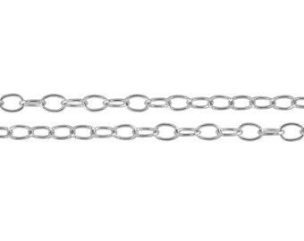 Sterling Silver 3.5x2.5mm Cable Chain - 20ft (2483-20)/1