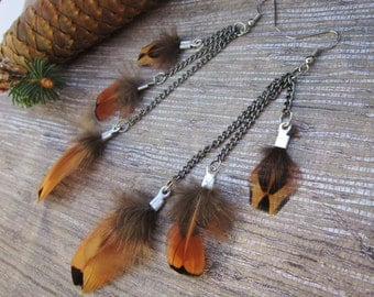 FREE SHIPPING Golden Feather Love Feather Earrings Sale BOGO Half Off