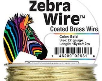 New Zebra color-coated copper wire GOLD 22 ga 15 yd