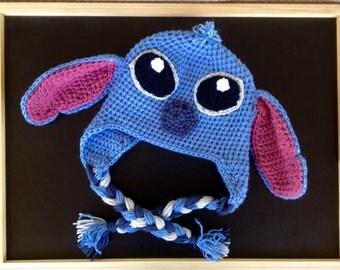 Stitch Alien Crochet Hat with earflaps