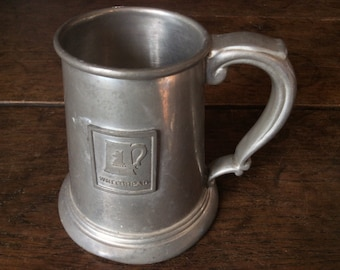 Vintage English Whitbread 1/2 Pint Drinking Trophy Goblet Tumbler Mug Stein Beer Made In Sheffield circa 1960-70's / English Shop