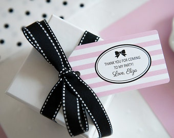 Little Miss Collection: Printable Bow Favor Tag