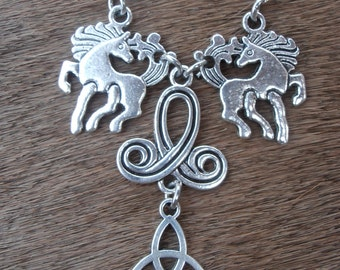 Einherjar Horsemen of Odin Necklace (Norse Pagan Heathen Scandinavian Asatru) (Assembled item)