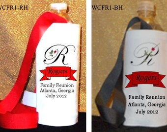 Personalized Family Reunion Water Bottle Caddys