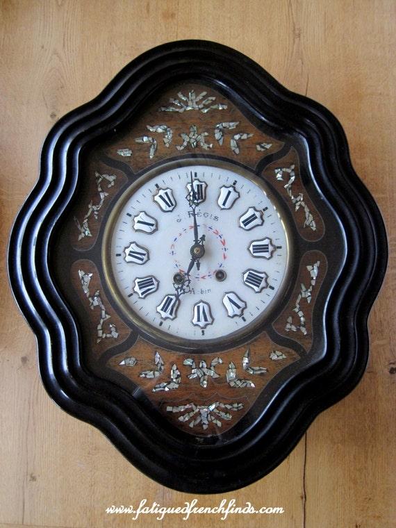 orologio antico francese ebanizzato oeil de boeuf di r gis di. Black Bedroom Furniture Sets. Home Design Ideas