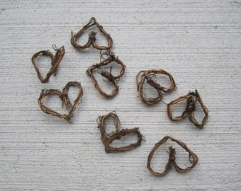 "Grapevine Twig hearts - 1"" - set of 16"