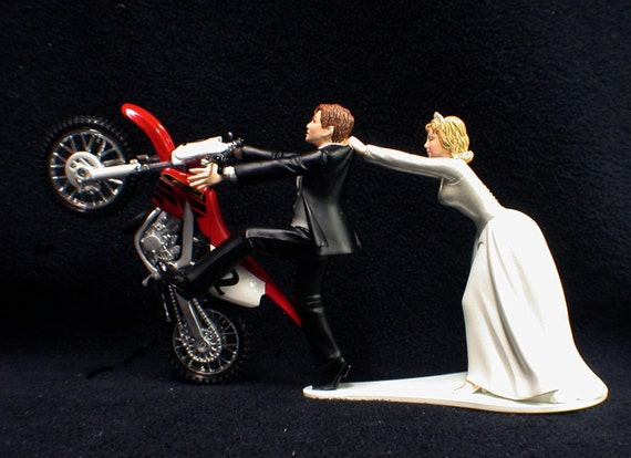 dirt bike wedding cake toppers honda dirt bike racing road track by yourcaketopper 13535