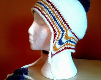 Crochet Hat Pattern Adult size, Polar Vortex Inspired