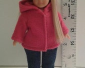 Clothes for Mini American Girl doll, Mini American Girl Clothes, Fleece Coat for Mini AG doll, Clothes for  6 1/2 inch American Girl, AGM