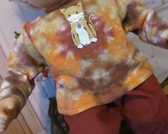 Tie dye Shirt,  Corduroy Pants, 15 inch Doll Clothes