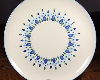 """11.5"""" Round Serving Platter Plate - Marcrest Swiss Chalet Alpine  -  Mid Century, Vintage, 1960s"""
