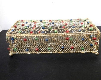 Long Gold Wire Jewelry Box