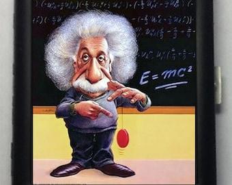 Albert Einstein  Metal Cigarette Case or Wallet  No.  40