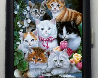 Kittens Cats Metal Cigarette Case or Wallet No 110