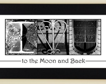 alphabet photography letter photos i love you to the moon and back framed 5x12