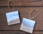 ORNAMENT - You Chose Sand Writing Photo - great for Christmas tree, holiday gift,  office art, cubicle trinket