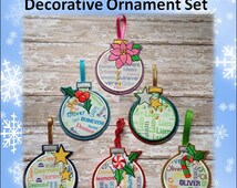 In The Hoop Decorative Ball Ornamnent Embroidery Machine Design Set