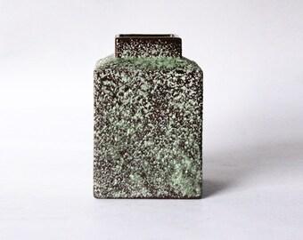 Vintage Dutch Green Lava Vase -  Afina Rijnsburg 60s (3)