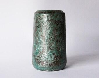 Vintage Dutch Green Lava Cylinder Vase - Afina  60s