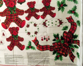 Vintage Teddy Bear, Ribbon, and Ornament Appliques for Sweatshirts, Table Runners, Tree Skirts, Bags