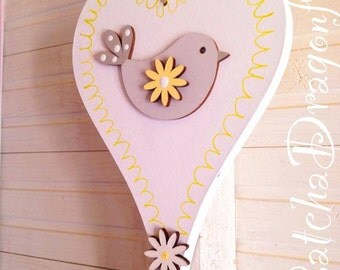 CurvY Handpainted Wooden Hearts ~ In LOVE