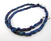 Midnight Blue Cube Bead for Interchangeable Multi Strand Necklace Collection Nebula
