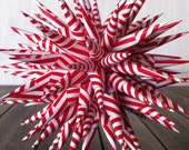 Christmas Ornament Polish Star Ornament - Red and White