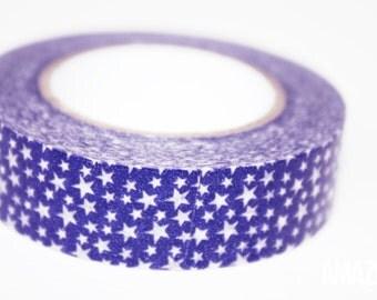 purple & white star washi tape - Paper Masking Tape