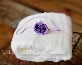 Small Newborn Headband, Newborn Cheesecloth, Purple Baby Headband, Purple Newborn Headband, Cheesecloth Wraps, Newborn Photo Prop