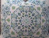 Designer Pillow Cover  20 x 20, 22 x 22, 24 x 24 - Kravet Medallion Parvani Lagoon