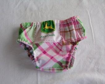 John Deere Pink Cotton Diaper Cover