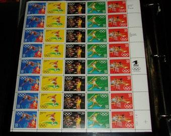 USA Mint Stamp Sheet, 2553 - 2557, 1991 Olympics, VF, NH