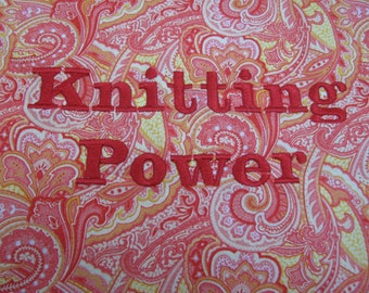 Project Bag - Knitting Power