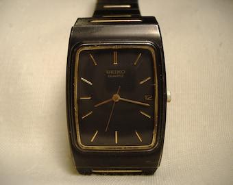 Vintage 1980s Seiko Quartz Calendar Watch