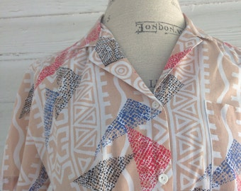 Vintage 1980s Saved By The Bell Blouse
