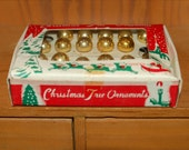 40s Christmas Mercury Glass Tree Ornaments 20/24 in Box, Retro, Holiday, Tree, Pieces, Ball, JAPAN
