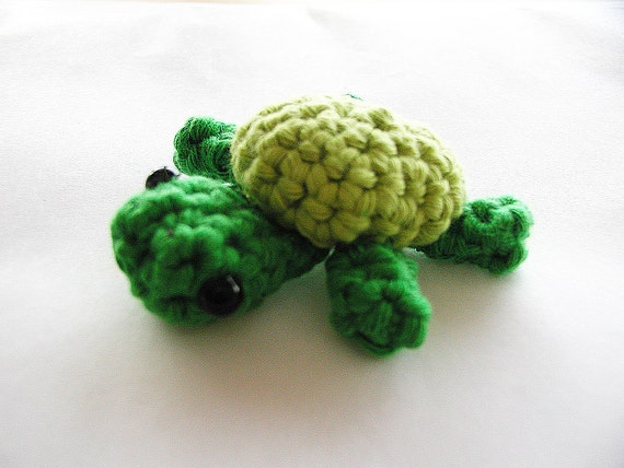 Tiny Crochet Turtle - Green